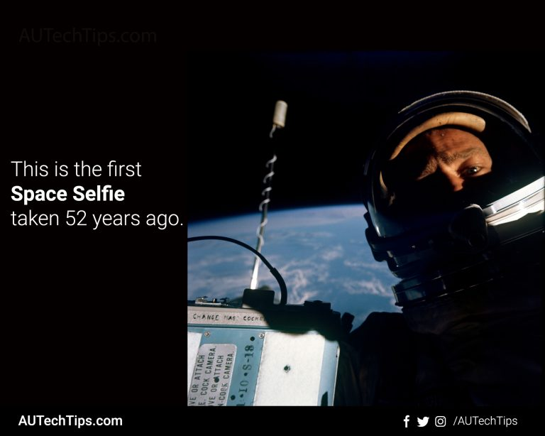 The First Space Selfie Was Taken 52 Years Ago