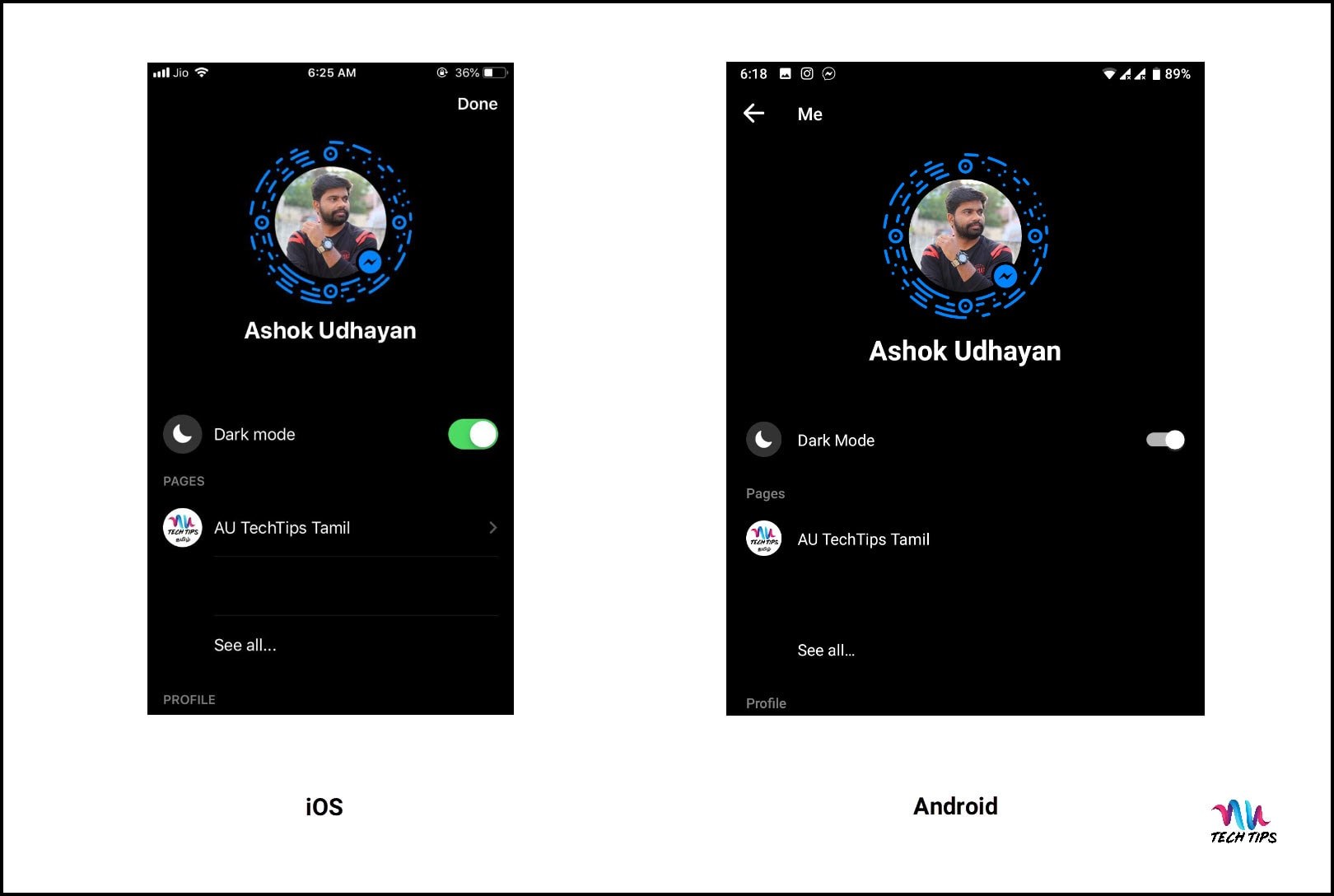 How To Enable Dark Mode in Facebook Messenger (Android & iOS