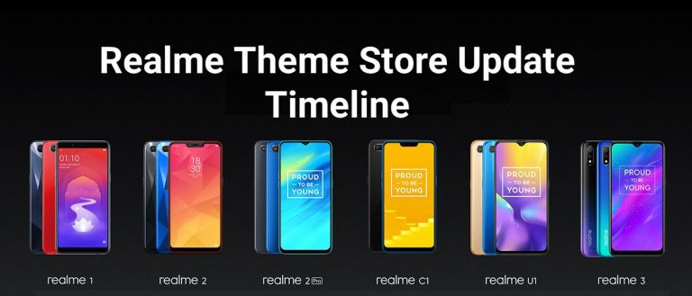 Realme Mobiles Theme Store Update Timeline