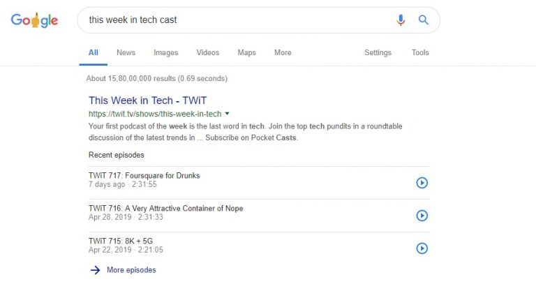 How To Play Podcasts From Google Search Results