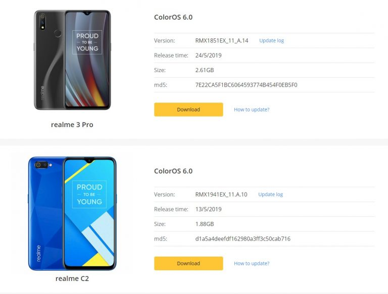 Download Latest Color OS ROM For Realme Mobiles Officially