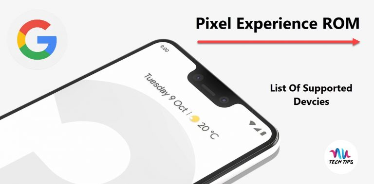 Pixel Experience ROM – List of Supported Devices
