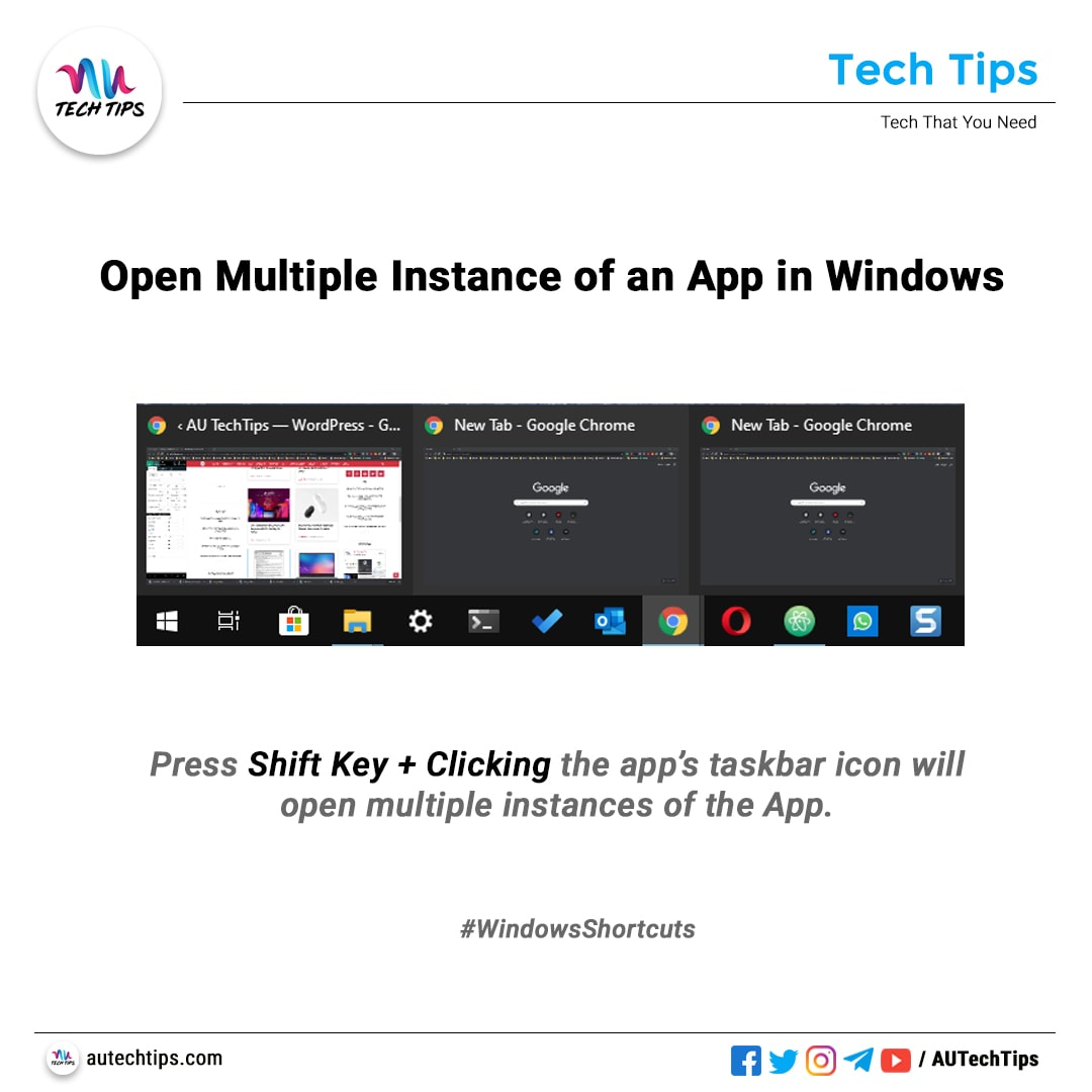 Open Multiple Instances of an App in Windows
